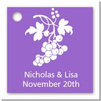 Grapes - Personalized Bridal Shower Card Stock Favor Tags