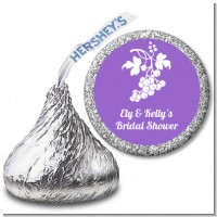 Grapes - Hershey Kiss Bridal Shower Sticker Labels
