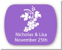Grapes - Personalized Bridal Shower Rounded Corner Stickers