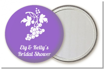 Grapes - Personalized Bridal Shower Pocket Mirror Favors