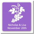 Grapes - Square Personalized Bridal Shower Sticker Labels thumbnail