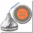 Grey & Orange - Hershey Kiss Bridal Shower Sticker Labels thumbnail