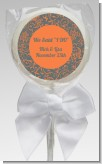 Grey & Orange - Personalized Bridal Shower Lollipop Favors