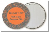 Grey & Orange - Personalized Bridal Shower Pocket Mirror Favors