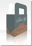 Grey & Orange - Personalized Bridal Shower Favor Boxes
