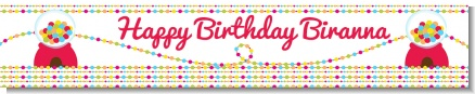 Gumball - Personalized Birthday Party Banners