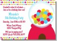 Gumball - Birthday Party Invitations thumbnail