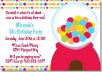 Gumball - Birthday Party Invitations