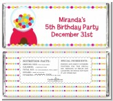 Gumball - Personalized Birthday Party Candy Bar Wrappers