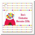 Gumball - Personalized Birthday Party Card Stock Favor Tags thumbnail