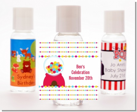 Gumball - Personalized Birthday Party Hand Sanitizers Favors
