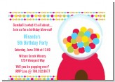 Gumball - Birthday Party Petite Invitations