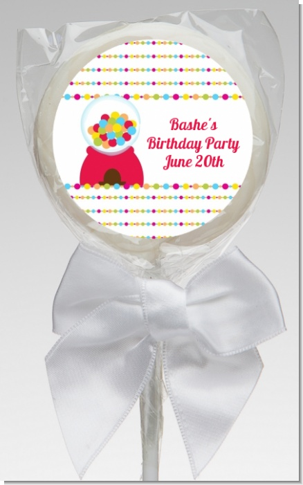 Gumball - Personalized Birthday Party Lollipop Favors
