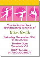 Gymnastics - Birthday Party Invitations