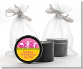 Gymnastics - Birthday Party Black Candle Tin Favors