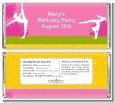 Gymnastics - Personalized Birthday Party Candy Bar Wrappers thumbnail