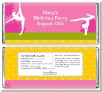 Gymnastics - Personalized Birthday Party Candy Bar Wrappers