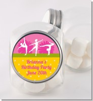 Gymnastics - Personalized Birthday Party Candy Jar