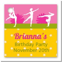 Gymnastics - Personalized Birthday Party Card Stock Favor Tags