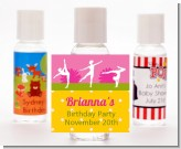 Gymnastics - Personalized Birthday Party Hand Sanitizers Favors