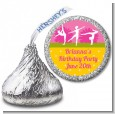 Gymnastics - Hershey Kiss Birthday Party Sticker Labels thumbnail