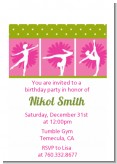 Gymnastics - Birthday Party Petite Invitations