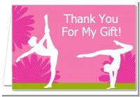 Gymnastics - Birthday Party Thank You Cards