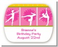 Gymnastics - Personalized Birthday Party Rounded Corner Stickers thumbnail
