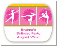 Gymnastics - Personalized Birthday Party Rounded Corner Stickers