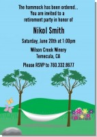 Hammock - Retirement Party Invitations