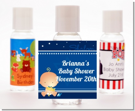 Hanukkah Baby - Personalized Baby Shower Hand Sanitizers Favors