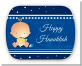 Hanukkah Baby - Personalized Baby Shower Rounded Corner Stickers