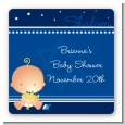 Hanukkah Baby - Square Personalized Baby Shower Sticker Labels thumbnail
