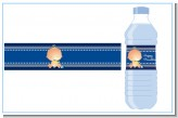 Hanukkah Baby - Personalized Baby Shower Water Bottle Labels