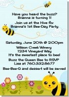 Happy Bee Day - Birthday Party Invitations