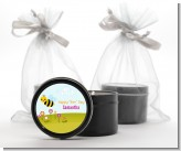 Happy Bee Day - Birthday Party Black Candle Tin Favors