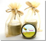 Happy Bee Day - Birthday Party Gold Tin Candle Favors
