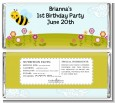 Happy Bee Day - Personalized Birthday Party Candy Bar Wrappers thumbnail