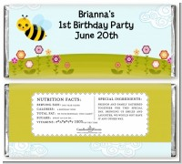 Happy Bee Day - Personalized Birthday Party Candy Bar Wrappers