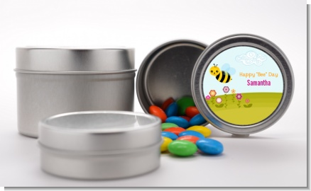 Happy Bee Day - Custom Birthday Party Favor Tins
