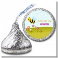 Happy Bee Day - Hershey Kiss Birthday Party Sticker Labels thumbnail