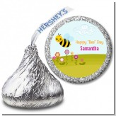 Happy Bee Day - Hershey Kiss Birthday Party Sticker Labels