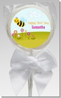 Happy Bee Day - Personalized Birthday Party Lollipop Favors