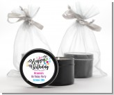 Happy Birthday - Birthday Party Black Candle Tin Favors