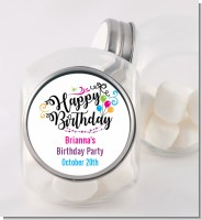 Happy Birthday - Personalized Birthday Party Candy Jar