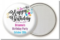 Happy Birthday - Personalized Birthday Party Pocket Mirror Favors