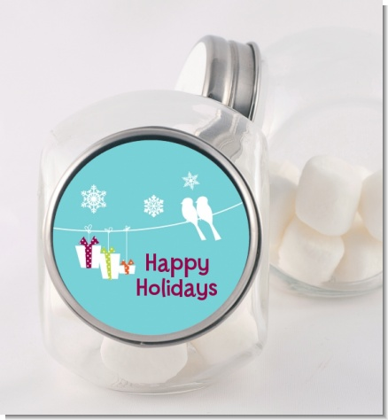 Happy Holidays on a String - Personalized Christmas Candy Jar