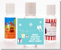 Happy Holidays on a String - Personalized Christmas Hand Sanitizers Favors