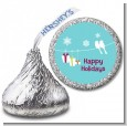 Happy Holidays on a String - Hershey Kiss Christmas Sticker Labels thumbnail