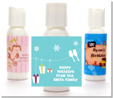 Happy Holidays on a String - Personalized Christmas Lotion Favors
